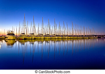 λιμάνι , βράδυ , ατάραχα , απόπλους