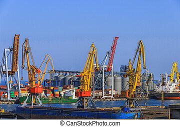 λιμάνι , εμπορεύματα δοχείο , αποβάθρα , επιβιβάζω