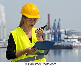 λιμάνι , εργάτης , γυναίκα