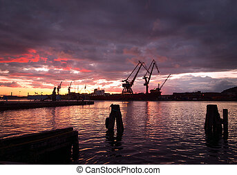 λιμάνι , νύκτα