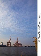 λιμάνι , amsterdam , γραμμή ορίζοντα