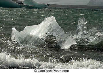 λιμνοθάλασσα , πλωτός , jokulsarlon, ισλανδία , γιγάντειος , παγόβουνο