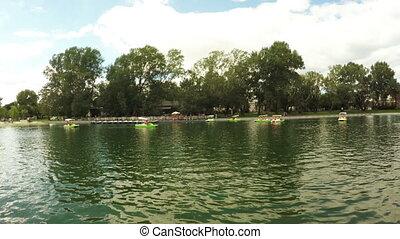 λιμνούλα , μέσα , πάρκο της πόλης