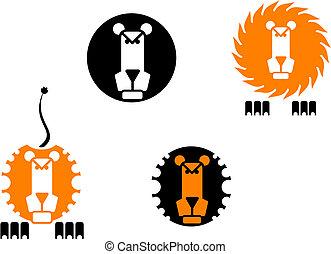 λιοντάρι , απεικόνιση
