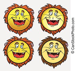 λιοντάρι , μικροβιοφορέας , χαρακτήρας , emoji