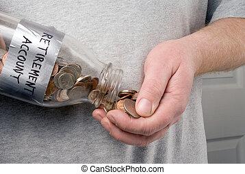 λογαριασμός , συνταξιοδότηση