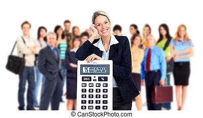 λογιστής , woman., επιχείρηση