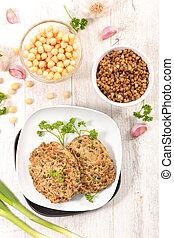 λουκάνικο , χορτοφάγοs , ρεβύθι , φακή