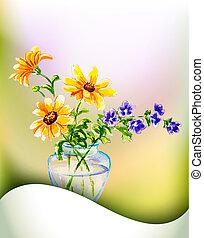 λουλούδια , άνοιξη , πρόσκληση , φόρμα
