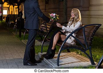 λουλούδια , ανήρ γυναίκα