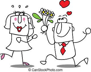 λουλούδια , γυναίκα , άντραs , αναθέτω