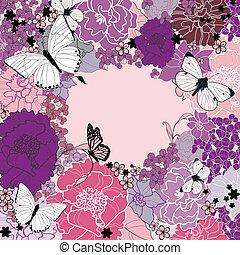 λουλούδια , σχεδιάζω , φόντο