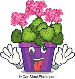 λουλούδια , τρελός , γεράνι , σχήμα , γελοιογραφία