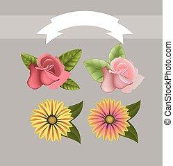 λουλούδια , vectors
