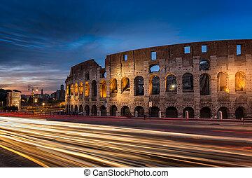 λυκόφως , ακολουθώ ίχνη , άδεια εισόδου , ρώμη , ελαφρείς , κολοσσαίο