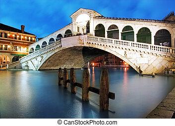 λυκόφως , γέφυρα , βενετία italy , - , rialto