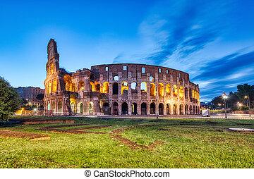 λυκόφως , ρώμη , διακοσμώ με φώτα , κολοσσαίο
