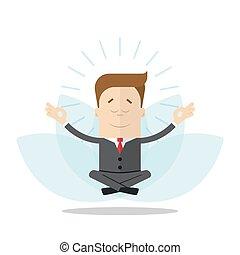 λωτός , αυτοσυγκεντρώνομαι , απομονωμένος , γελοιογραφία , φόντο. , διαχειριστής , position., επιχειρηματίας , άσπρο , ή