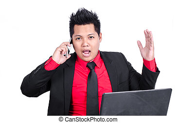λόγια , δίνω έμφαση , τηλέφωνο. , επιχειρηματίας