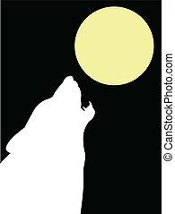 λύκος , φεγγάρι