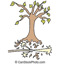 μάνικα , απαλλάσσομαι από , δέντρο , υψηλή πίεση , ρίζα