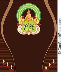 μάσκα , αντικρύζω απεικονίζω , kathakali