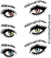 μάτια , γυναίκα