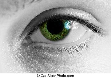 μάτι , ανθρώπινος , macro , 1 γυναίκα , βλέπω