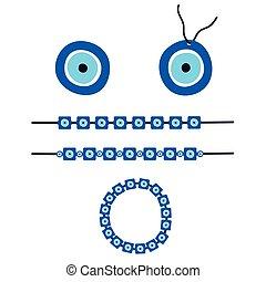 μάτι , βραχιόλι , εικόνα , ελληνικά , μικροβιοφορέας , κακό