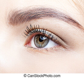 μάτι , γκρο πλαν , αόρ. του shoot , γυναίκα , makeup.