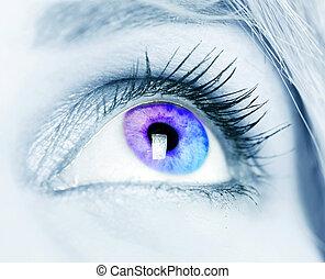 μάτι , γραφικός