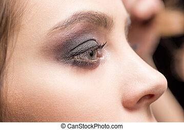 μάτι , γυναίκα , διαρρύθμιση