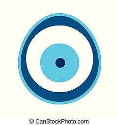 μάτι , φόντο , άσπρο , μικροβιοφορέας , απομονωμένος , κακό...