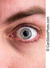 μάτι , macro , εικόνα , ζεσεεδ , ανθρώπινος , closeup