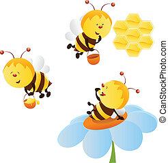 μέλισσα , θέτω