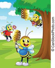 μέλι , μέλισσα