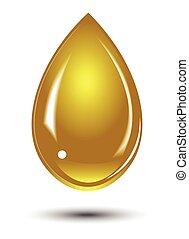 μέλι , σταγόνα , χρυσός