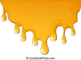 μέλι , φόντο , ρεύση