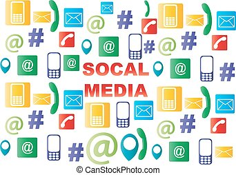 μέσα ενημέρωσης , κοινωνικός , απεικόνιση