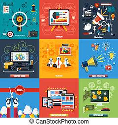 μέσα ενημέρωσης , κοινωνικός , σχεδιάζω , ιστός , seo, απεικόνιση