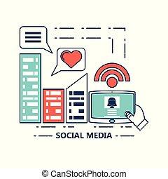 μέσα ενημέρωσης , σχεδιάζω , κοινωνικός