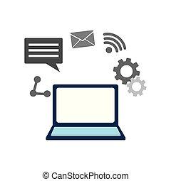 μέσα ενημέρωσης , laptop ηλεκτρονικός εγκέφαλος , δίκτυο , κοινωνικός