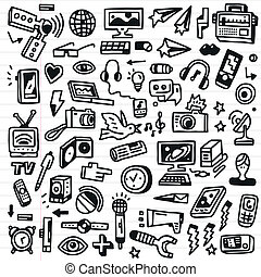 μέσα μαζικής ενημέρωσης , - , doodles, θέτω