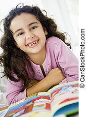 μέσο , κορίτσι , βιβλίο , διάβασμα , ανατολικός