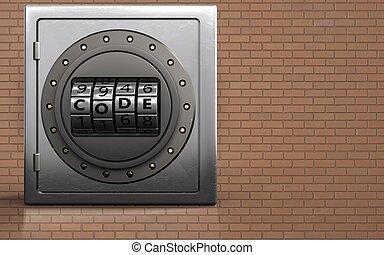 μέταλλο , δίσκοs τηλεφώνου , κρυπτογράφημα , ακίνδυνος , 3d