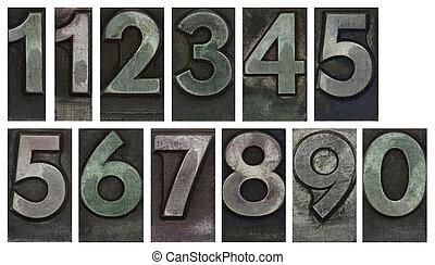 μέταλλο , δακτυλογραφώ , αριθμοί