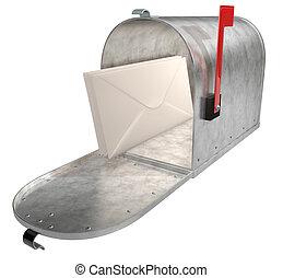 μέταλλο , κουτί για γράμματα