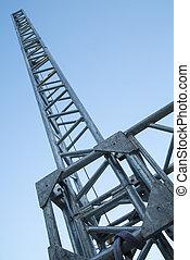 μέταλλο , κυρία , ακτίνα , για , εξέδρα , δομή , υποστηρίζω
