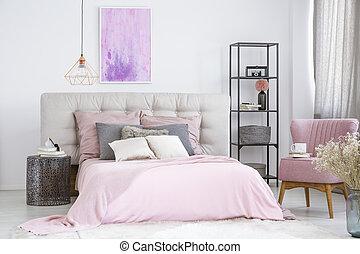 μέταλλο , nightstand , κρεβάτι , επόμενος
