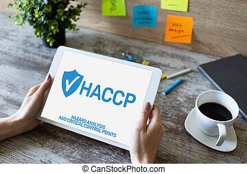 μέτρο , βεβαίωση , ανάλυση , διακόπτης , διεύθυνση , - , επικριτικός , point., haccp, κίνδυνοs , ποιότητα , δικάζω